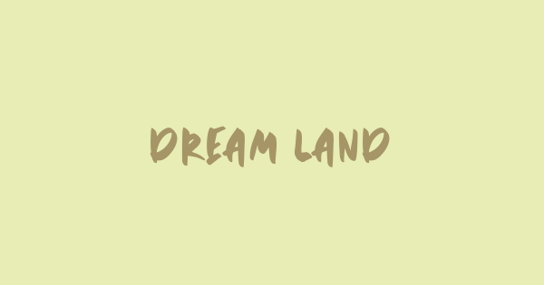 Dream Land font thumb